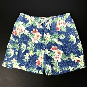 Tommy Bahama Mens Swim Trunks Relax Large Blue